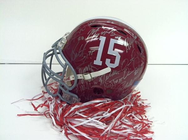 Alabama Autographed Helmet 2012 BCS National Championship Team